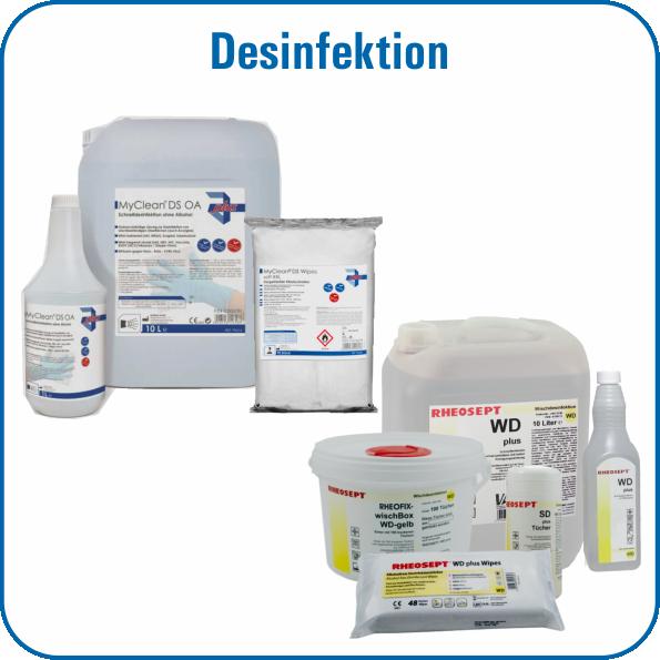 Rheosept, Desinfektion, Rheosept WD-plus, Rheosept-Wipes, Sagrotan, Deodesin, Nägelin, hygi.